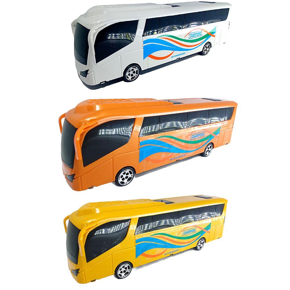 Ônibus de brinquedo Bus Champions C/ 3 modelos