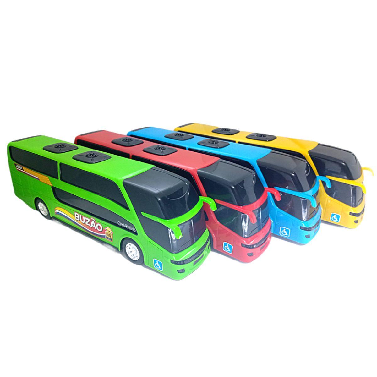 Ônibus de Brinquedo Buzão Super Divertido C/ 4 cores