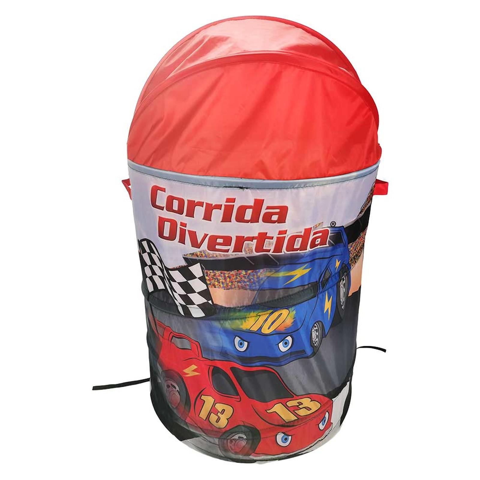 Organizador Cesto Brinquedos Corrida Divertida - DM