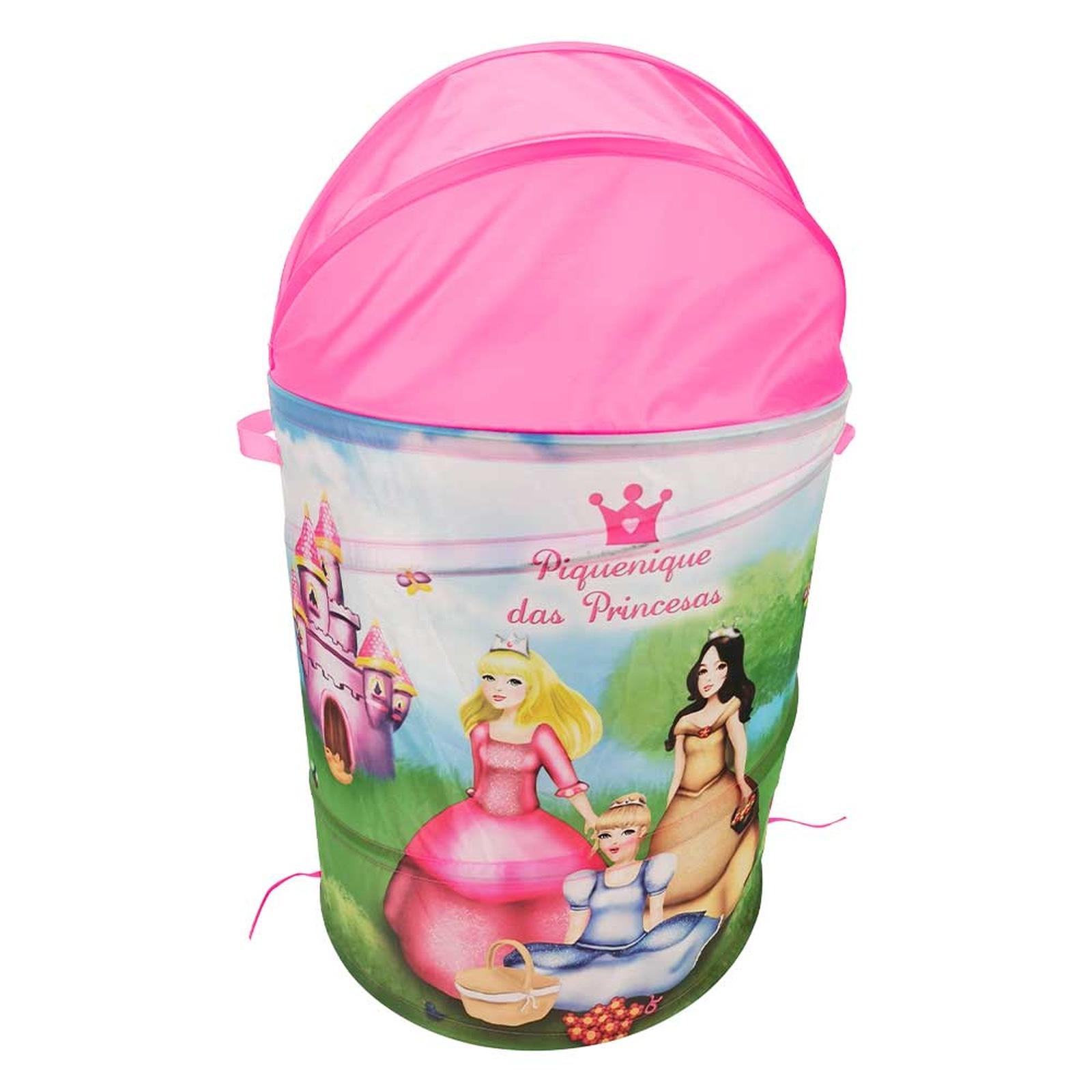 Organizador Cesto Brinquedos Piquenique das Princesas - DM
