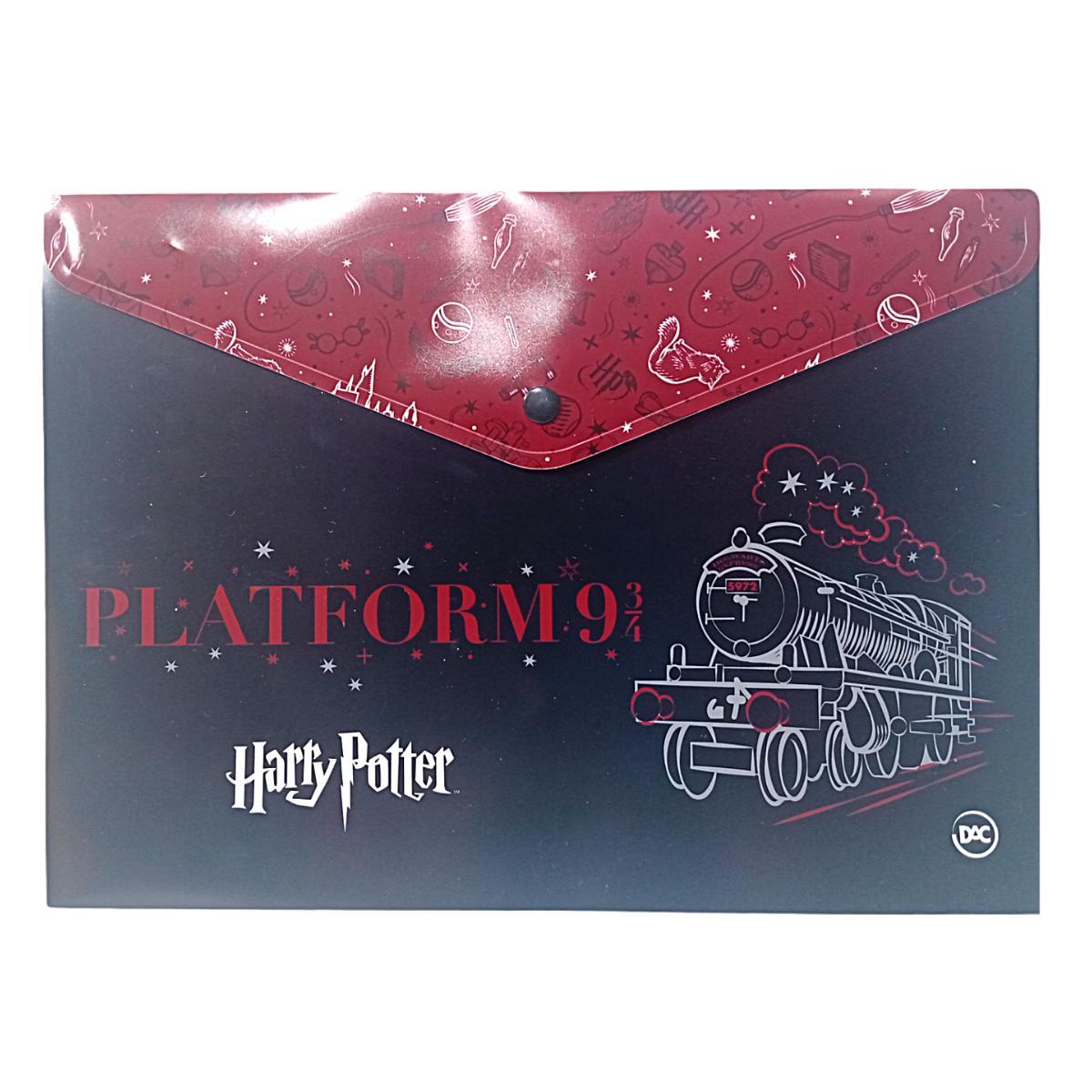 Pasta Malote A4 com Botão Harry Potter