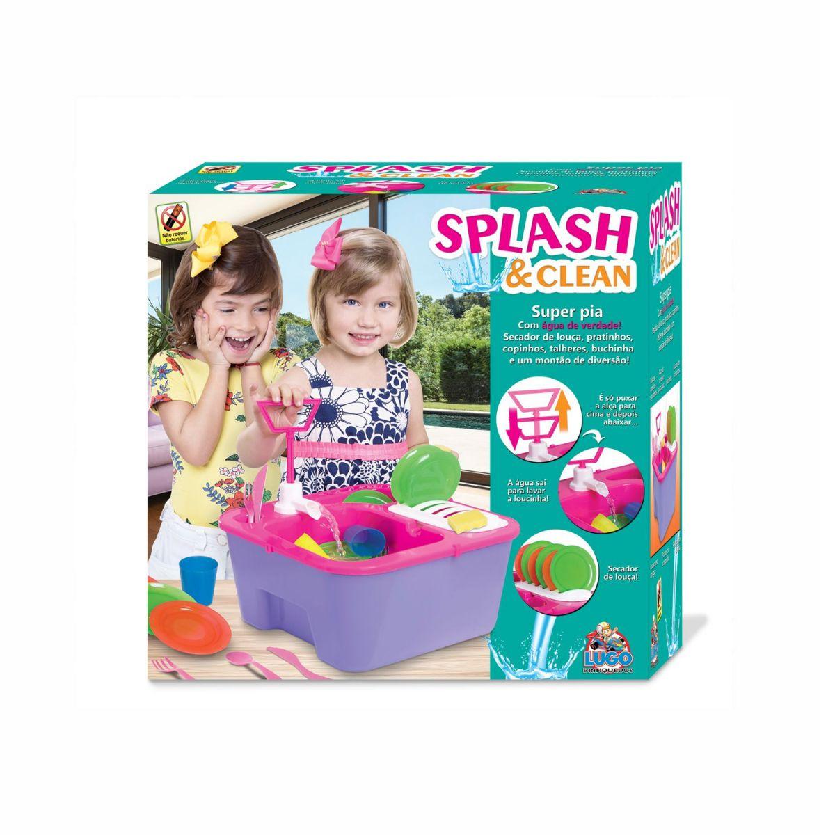 Pia de Brinquedo Splash e Clean Infantil Super Divertido Lugo