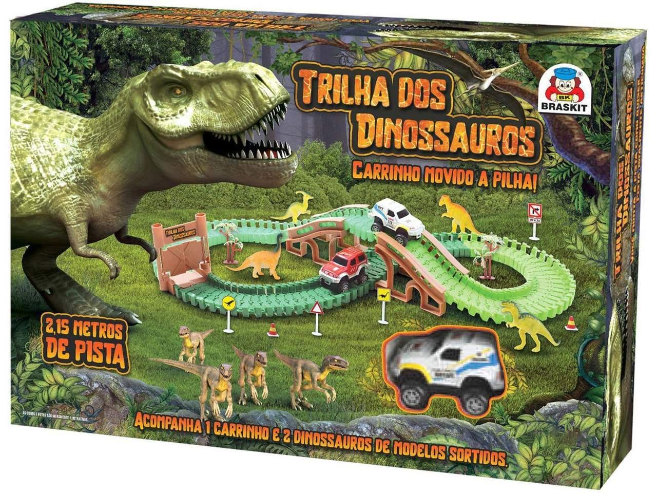Pista Trilha Parque Dos Dinossauros Carrinho a Pilha - Braskit
