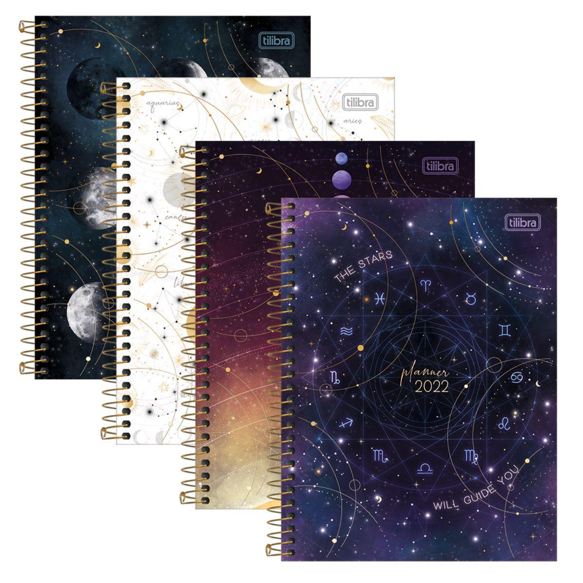 Planner Agenda 2022 Espiral Magic Galaxy Signos - Tilibra