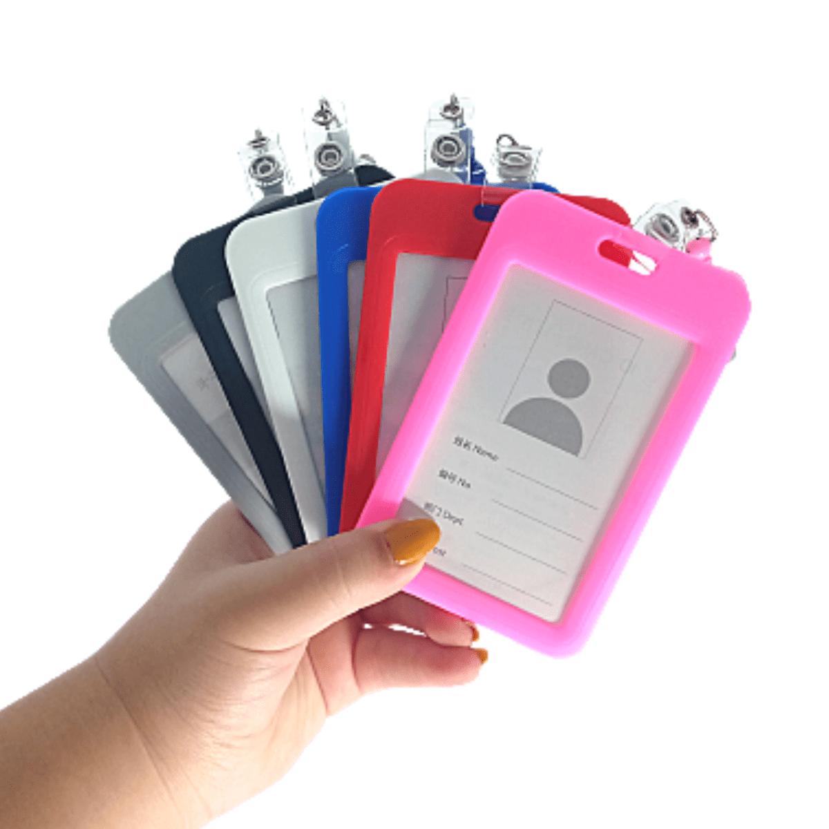 Porta Crachá Cartão de Identificação Com Diferentes Cores