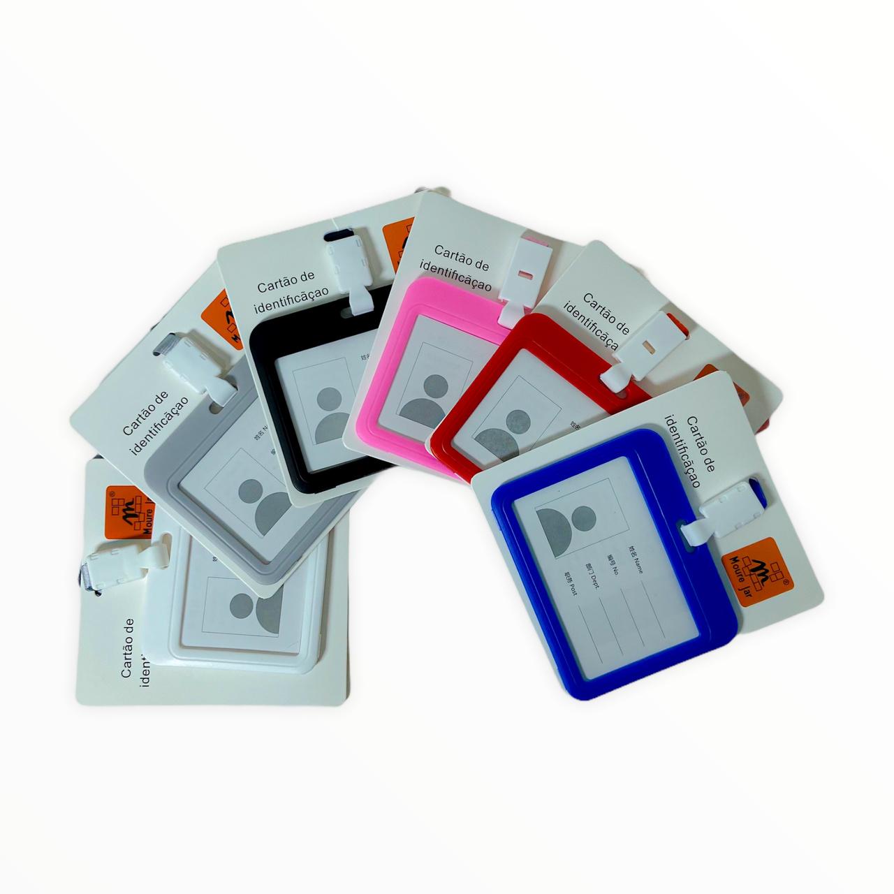 Porta Crachá Cartão De Identificação Plástico Diversas Cores Moure Jar Ref.: 8062