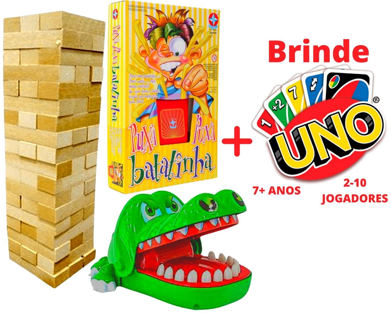 Puxa Batatinha +Caiu Perdeu +Mordida Jacare +Brinde Jogo Uno
