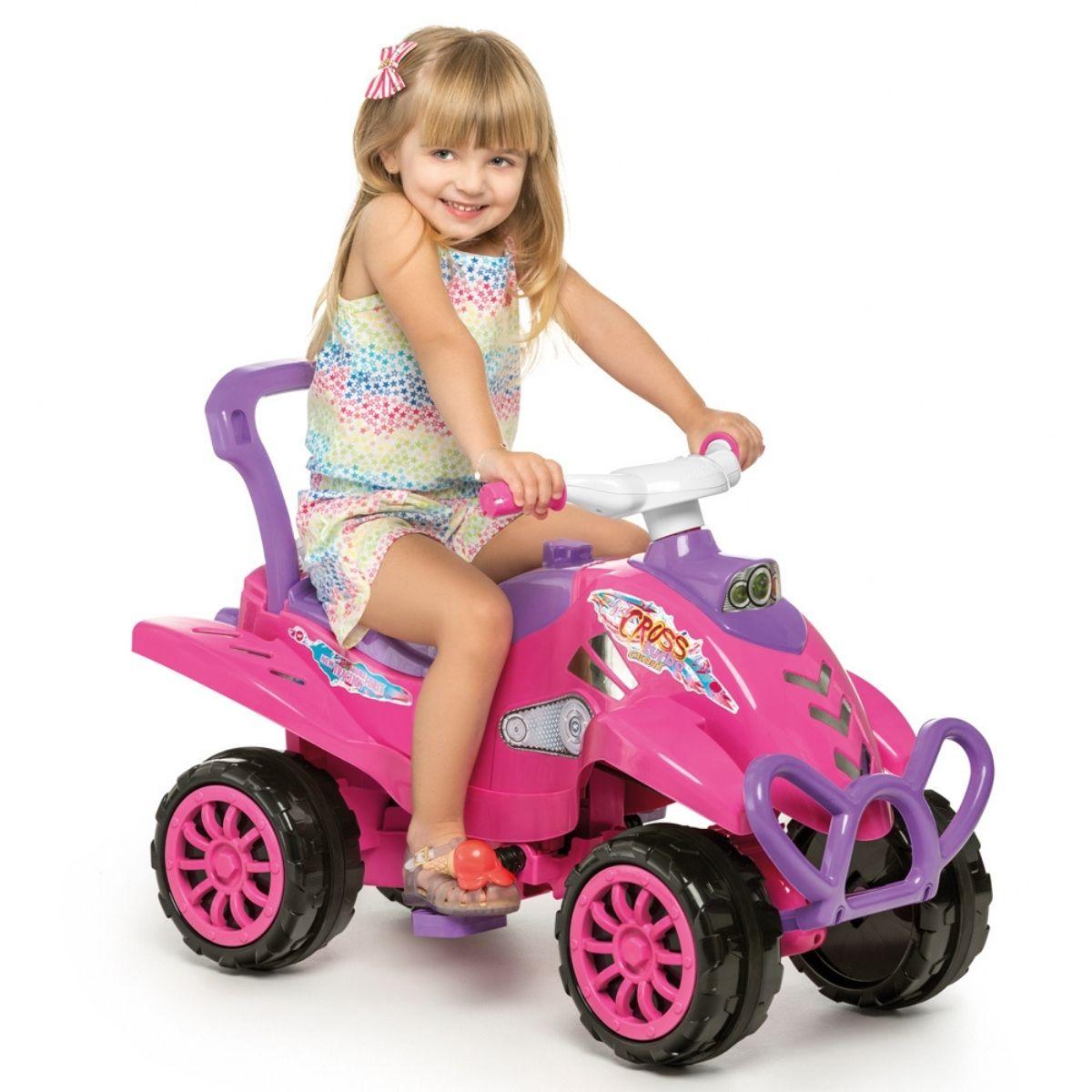 Quadriciclo Cross Turbo Rosa Pink Infantil