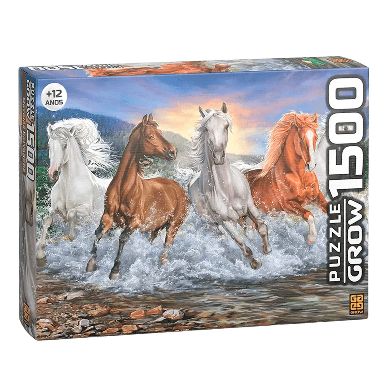 Quebra-Cabeça Cavalos Selvagens 1500 Peças Grow