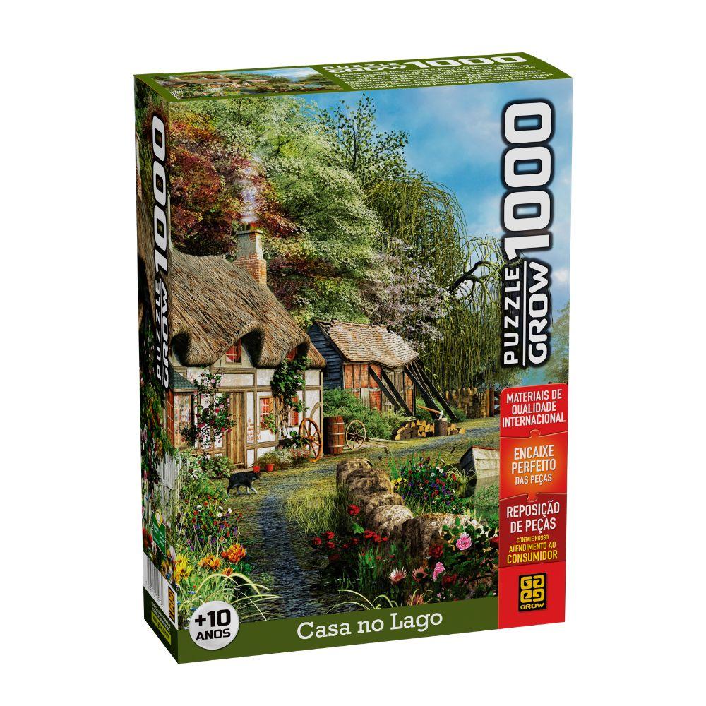 Quebra cabeça de 1000 peças Casa no Lago - GROW