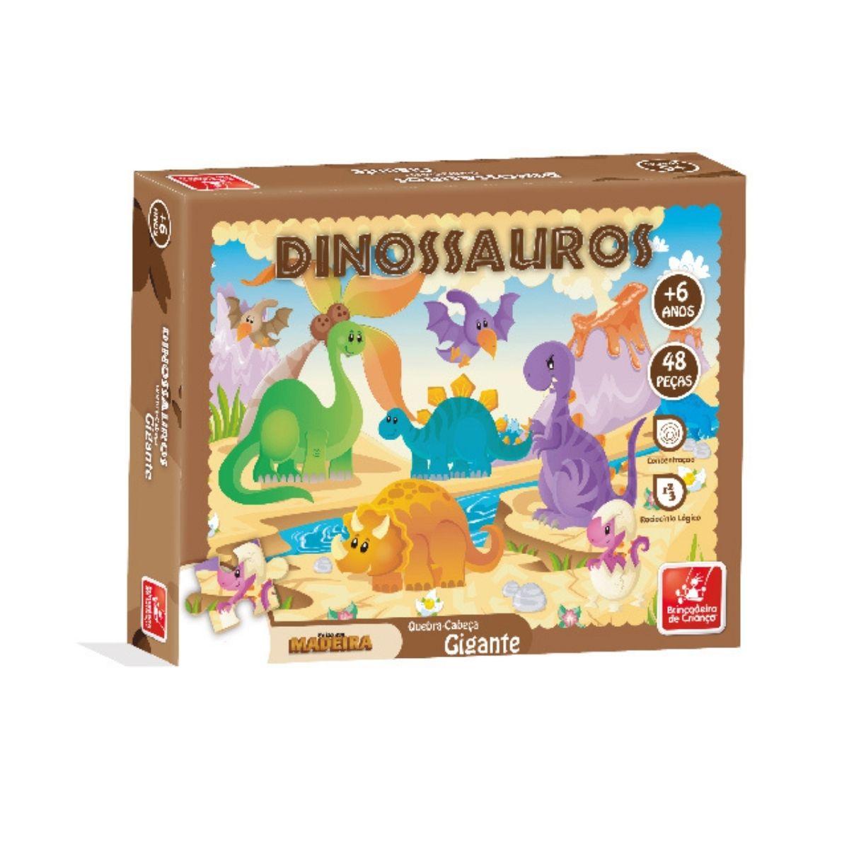 Quebra Cabeça Peças Grandes Dinossauro 48P