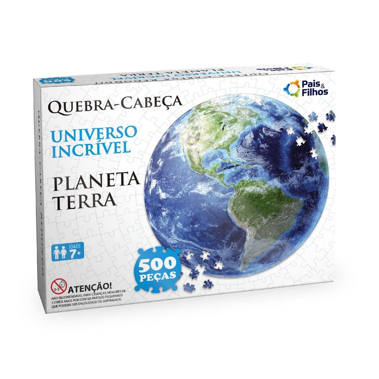 Quebra Cabeça Redondo Planeta Terra 500 peças