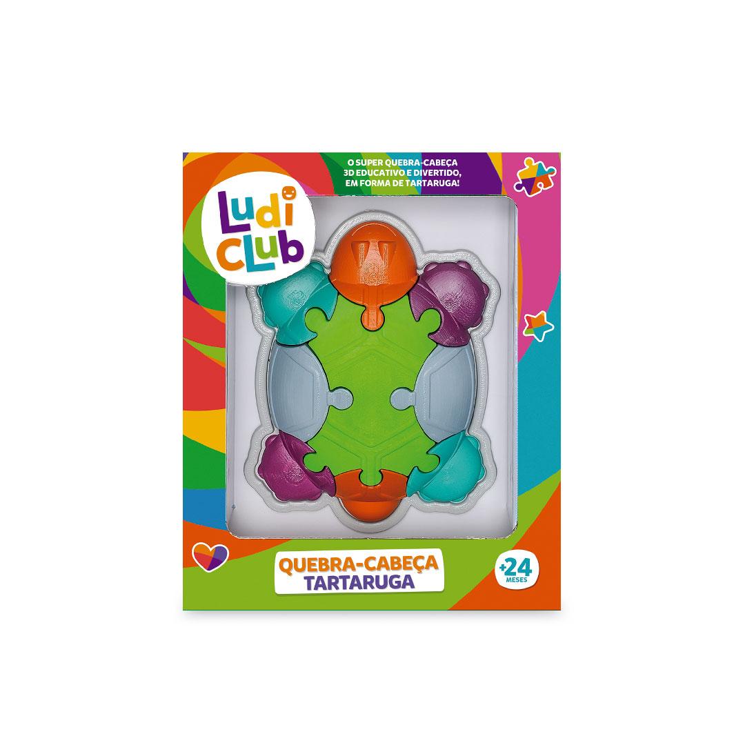 Quebra Cabeça Tartaruga Didático Brinquedo Educativo Ludi Club