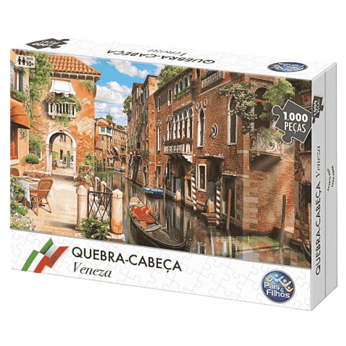 Quebra-cabeça Puzzle Veneza 1000pç - Montar Com Toda Família