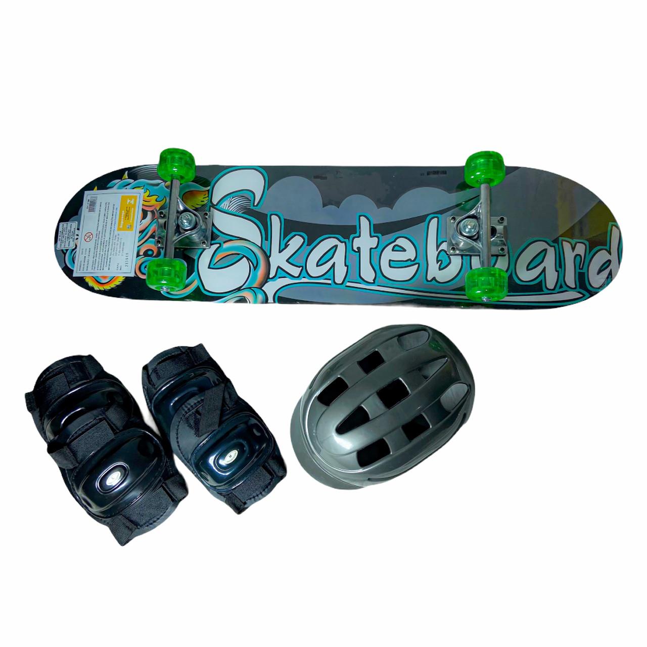 Skate Radkal com Acessórios Fenix