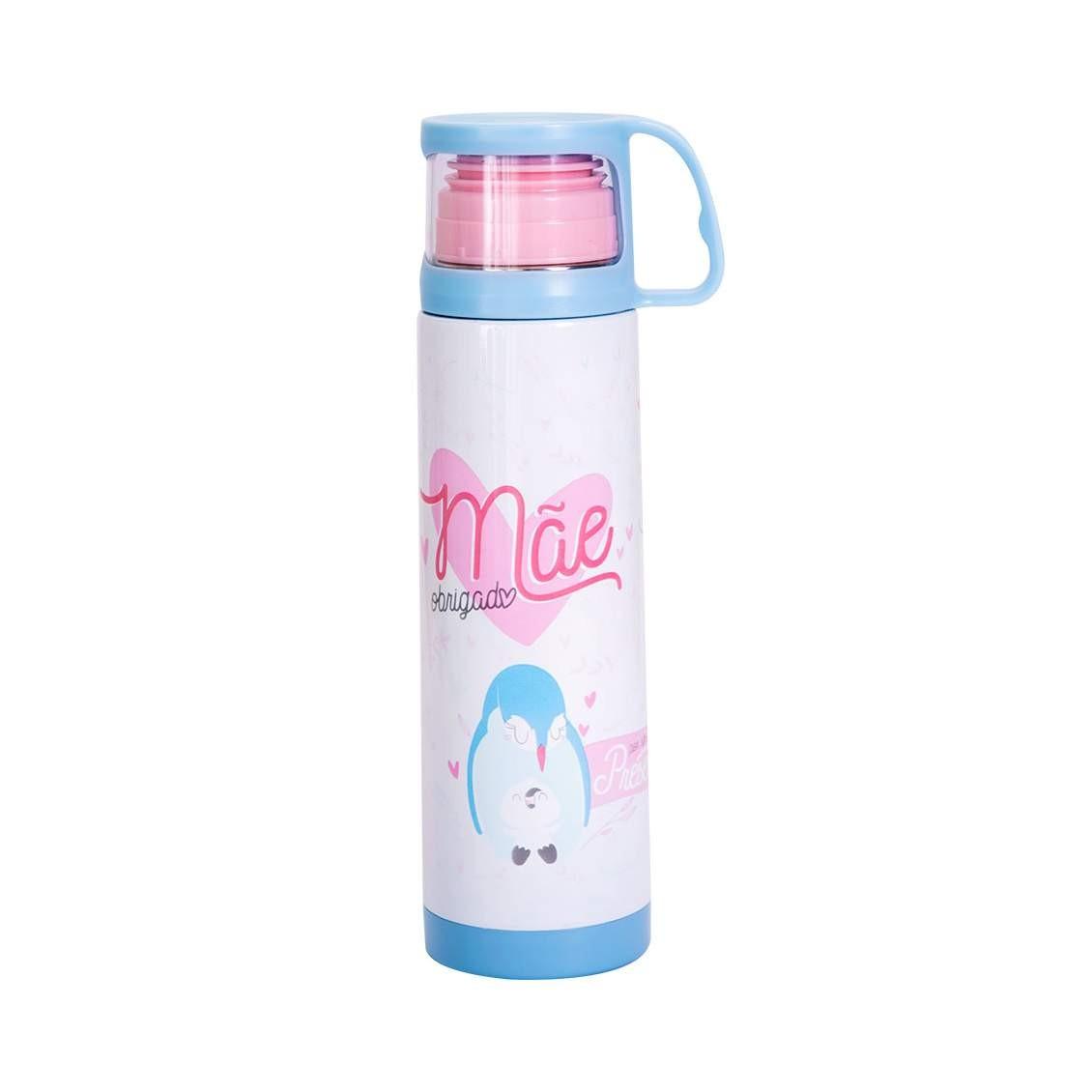 Squeeze Termica 475ml Com Caneca - Obrigado Mae