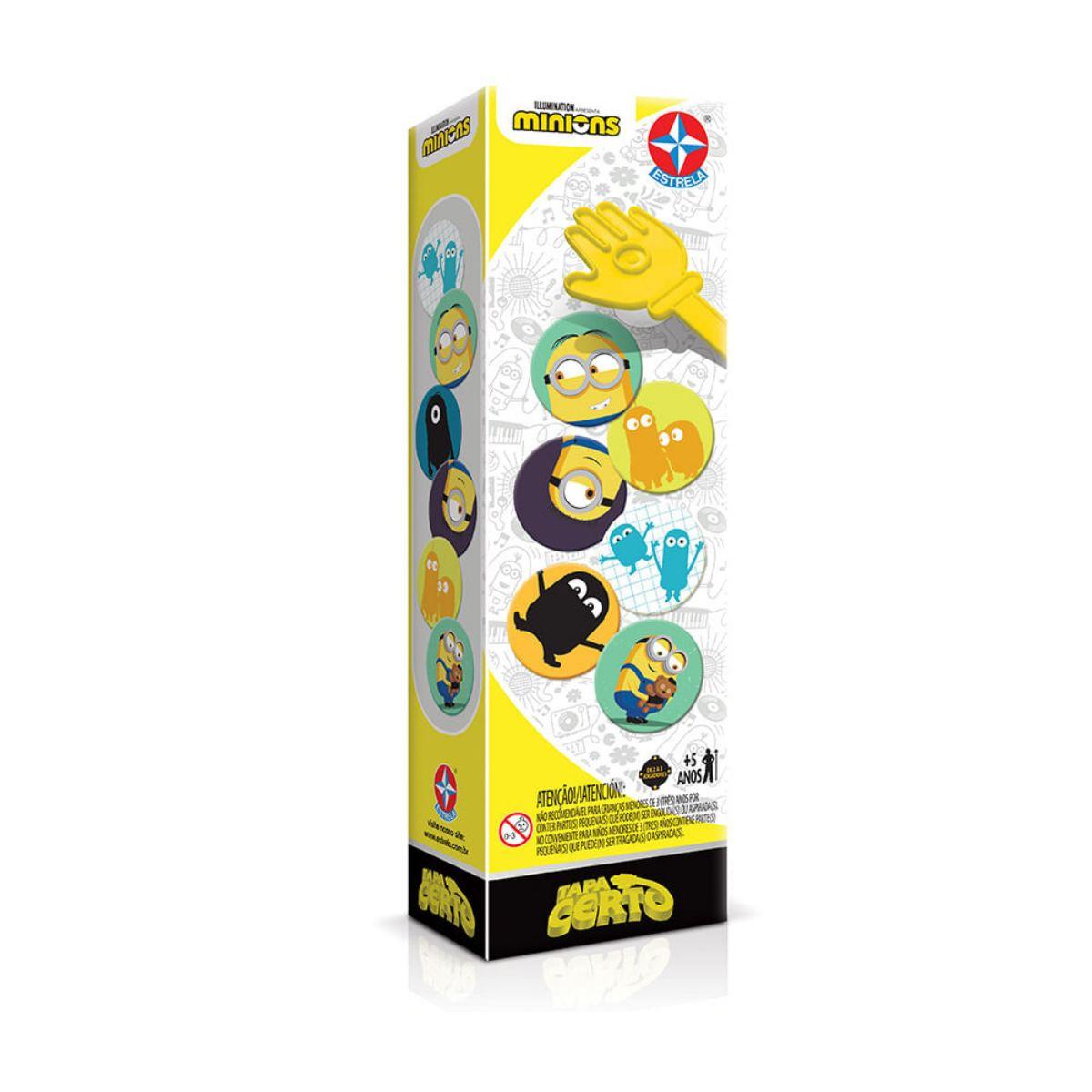 Jogo Tapa Certo de Cartas Minions Super divertido - Estrela