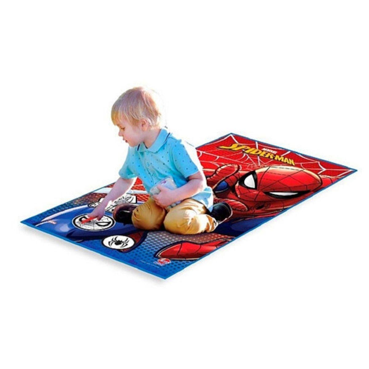 Tapete Infantil Para Crianças Spiderman Base Decorativa
