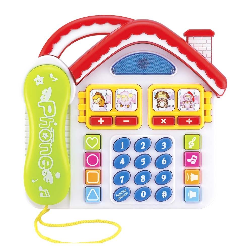 Telefone Infantil Divertido Casa Com Som Luz - Dm Toys