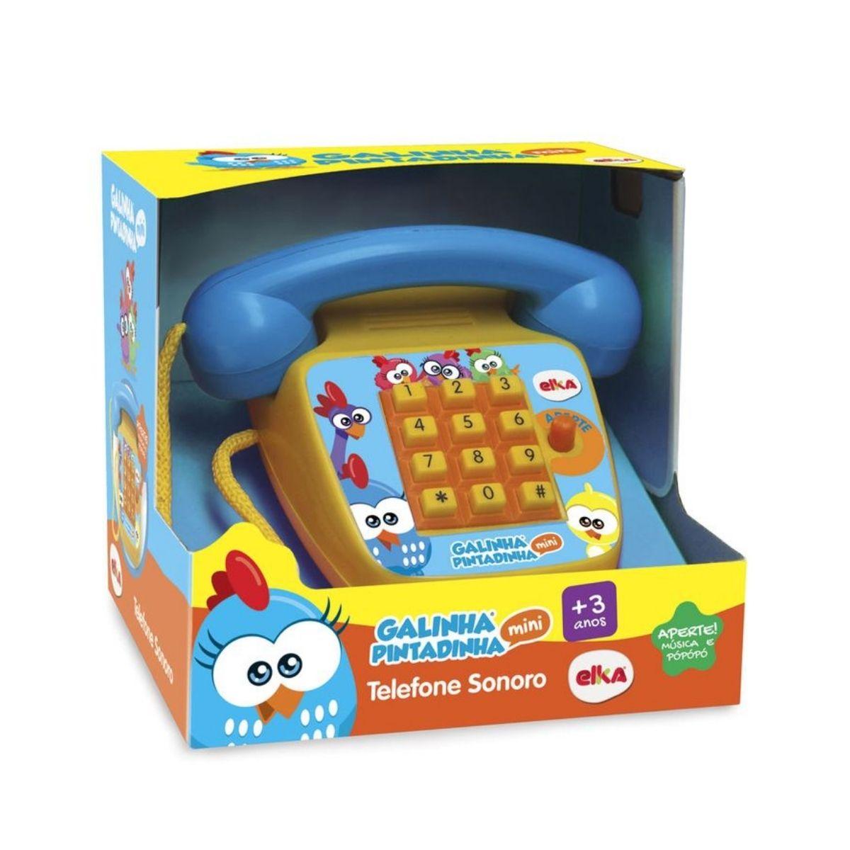 Telefone Sonoro Galinha Pintadinha Versão Mini Elka