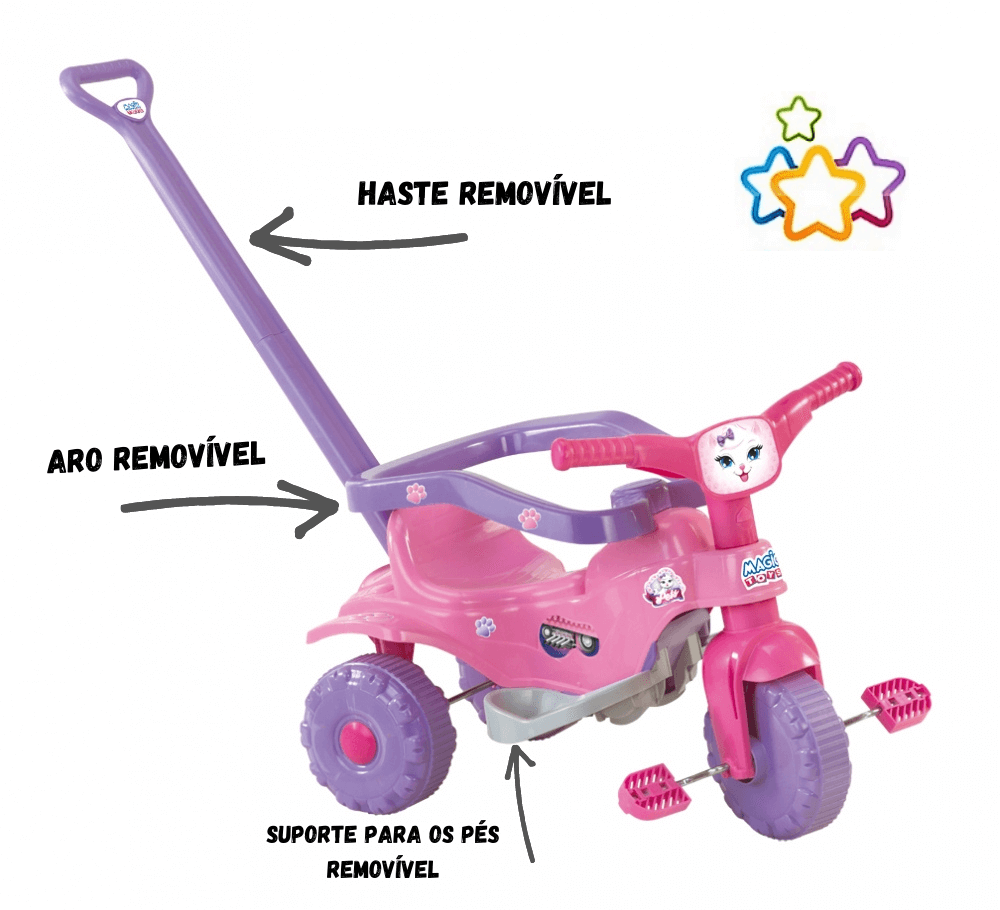 Tico-Tico Pets Rosa - Magic Toys  - Tem Tem Digital