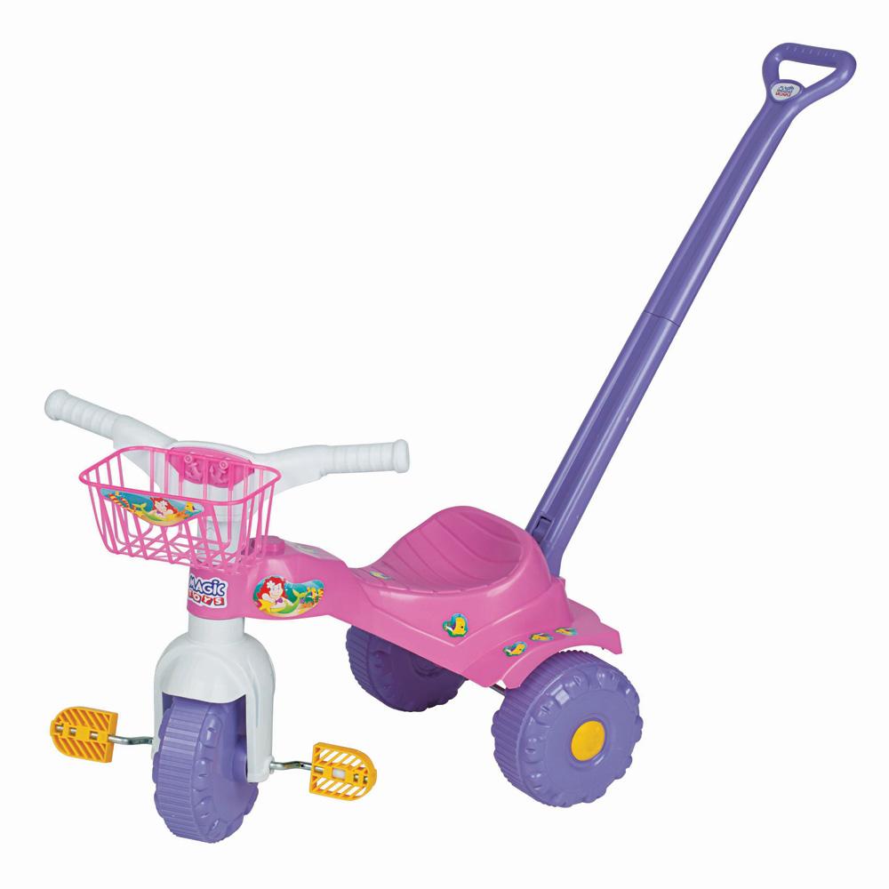 Triciclo Infantil Motoca Tico Tico Sereia - Magic Toys 2141