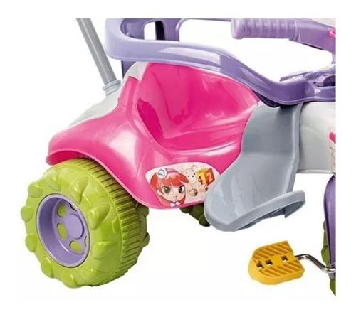 Triciclo Tico Tico Zoom Meg Com Aro - Magic Toys  - Tem Tem Digital