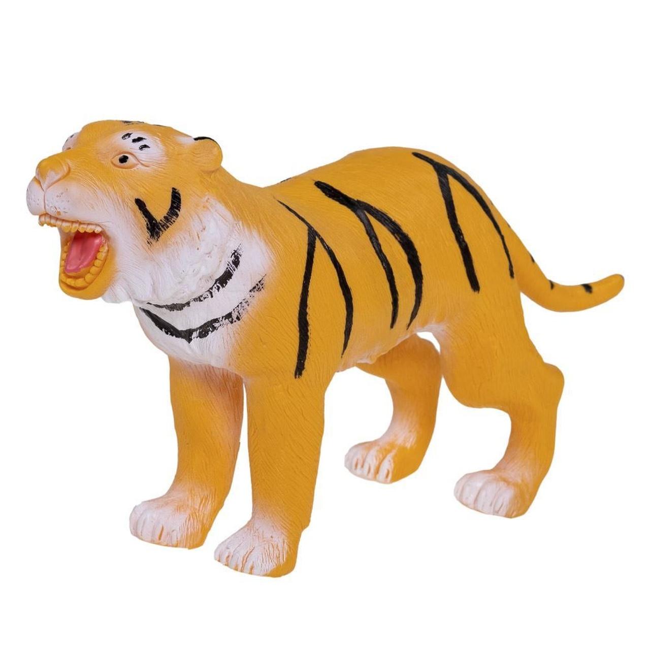 Brinquedo Boneco De Vinil Tigre Amarelo de Vinil - Db play