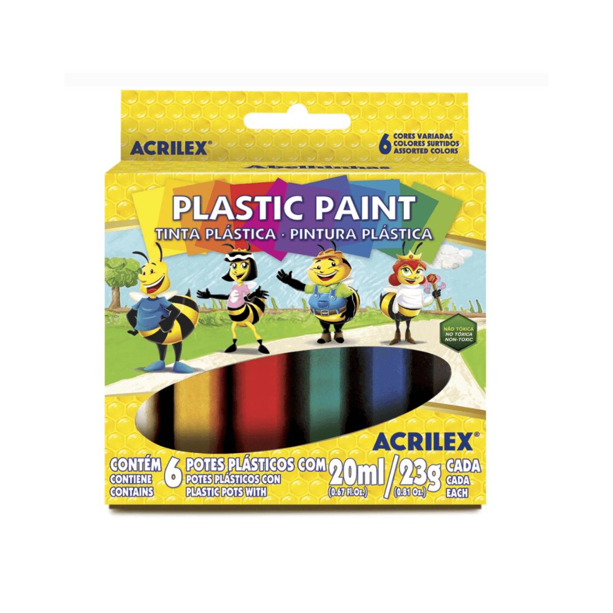 Tinta Plástica c/ 6 - Acrilex