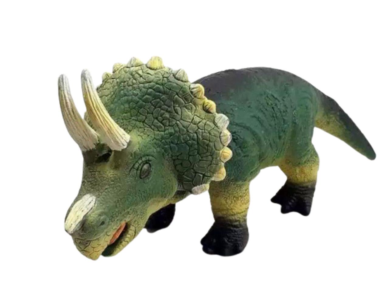 Brinquedo Boneco Infantil Dinossauro Triceratops de Vinil - Db Play