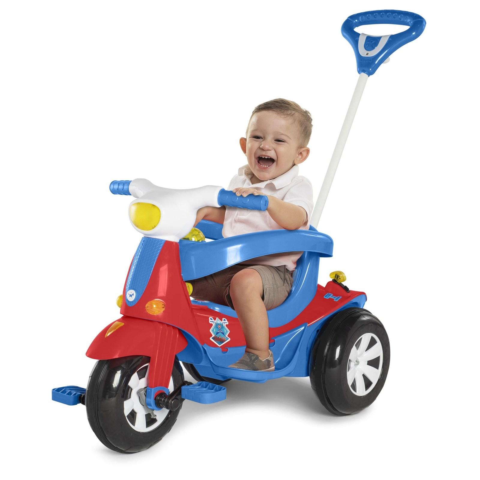 Triciclo Eletrico Infantil Velotri 3Em1 Grande Az/Rs 1023/24