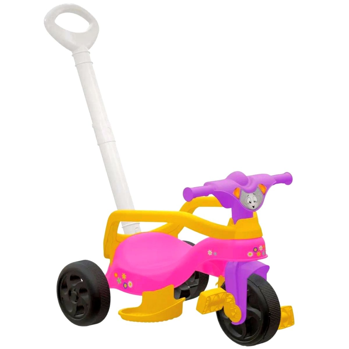 Triciclo Encantado Infantil Completo Haste Empurrar
