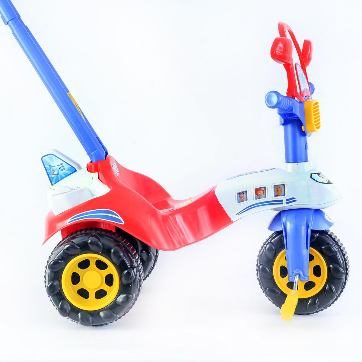 Triciclo Infantil Avião Vermelho Tico Tico Motoca - Magic Toys