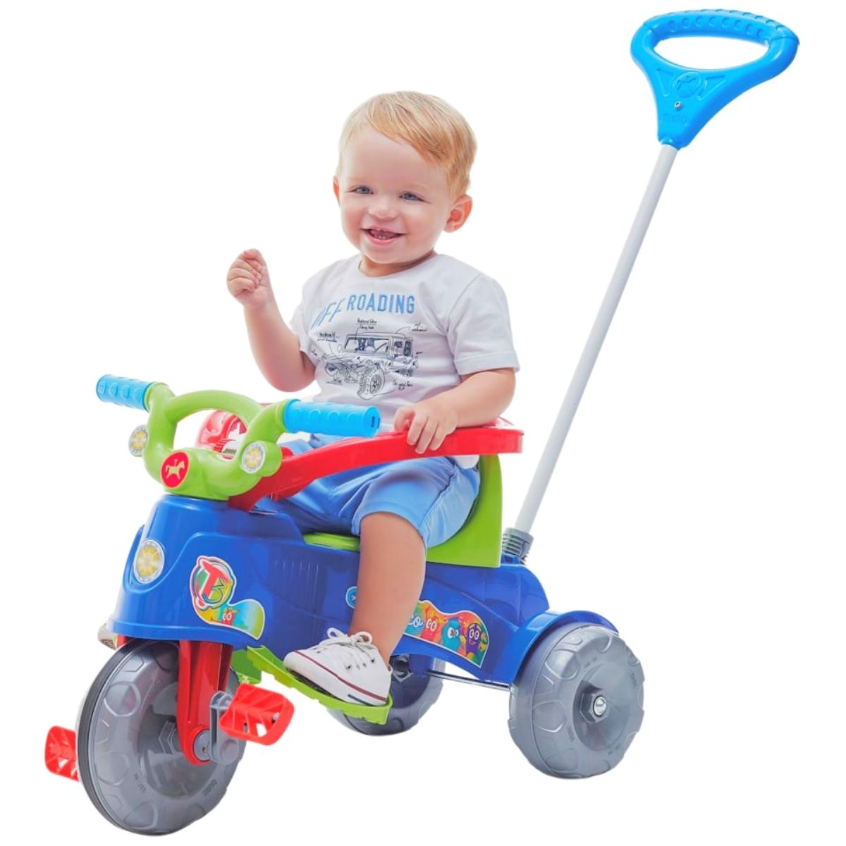 Triciclo Infantil Empurrador E Protetor 1-3 Anos Ta Te Tico
