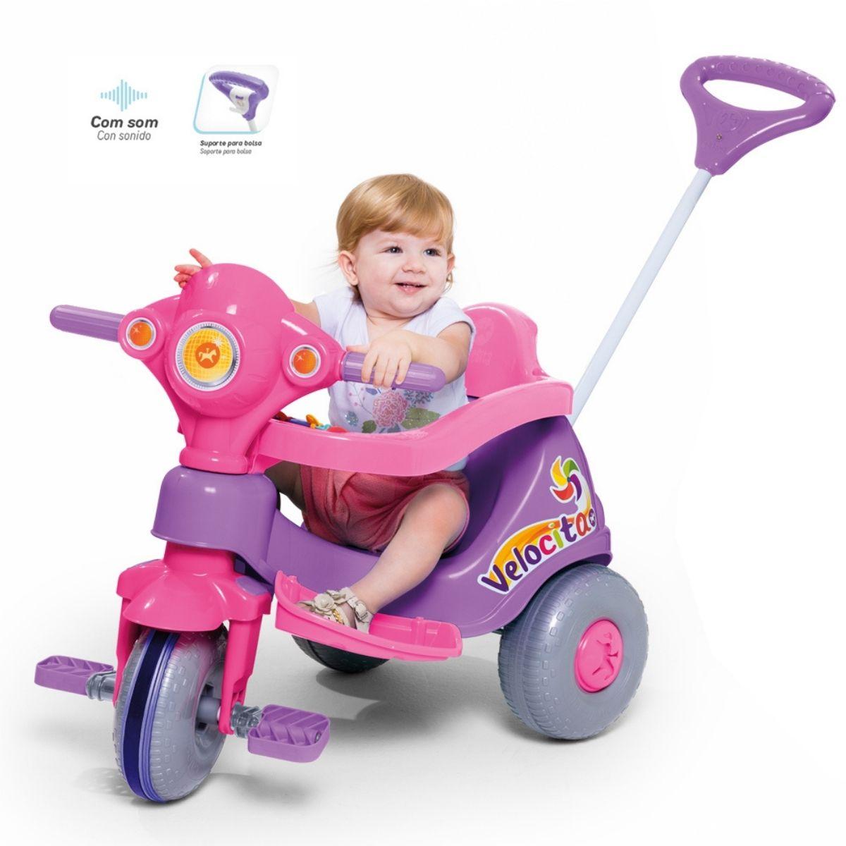 Triciclo Velocita Tico Tico Lilás Infantil