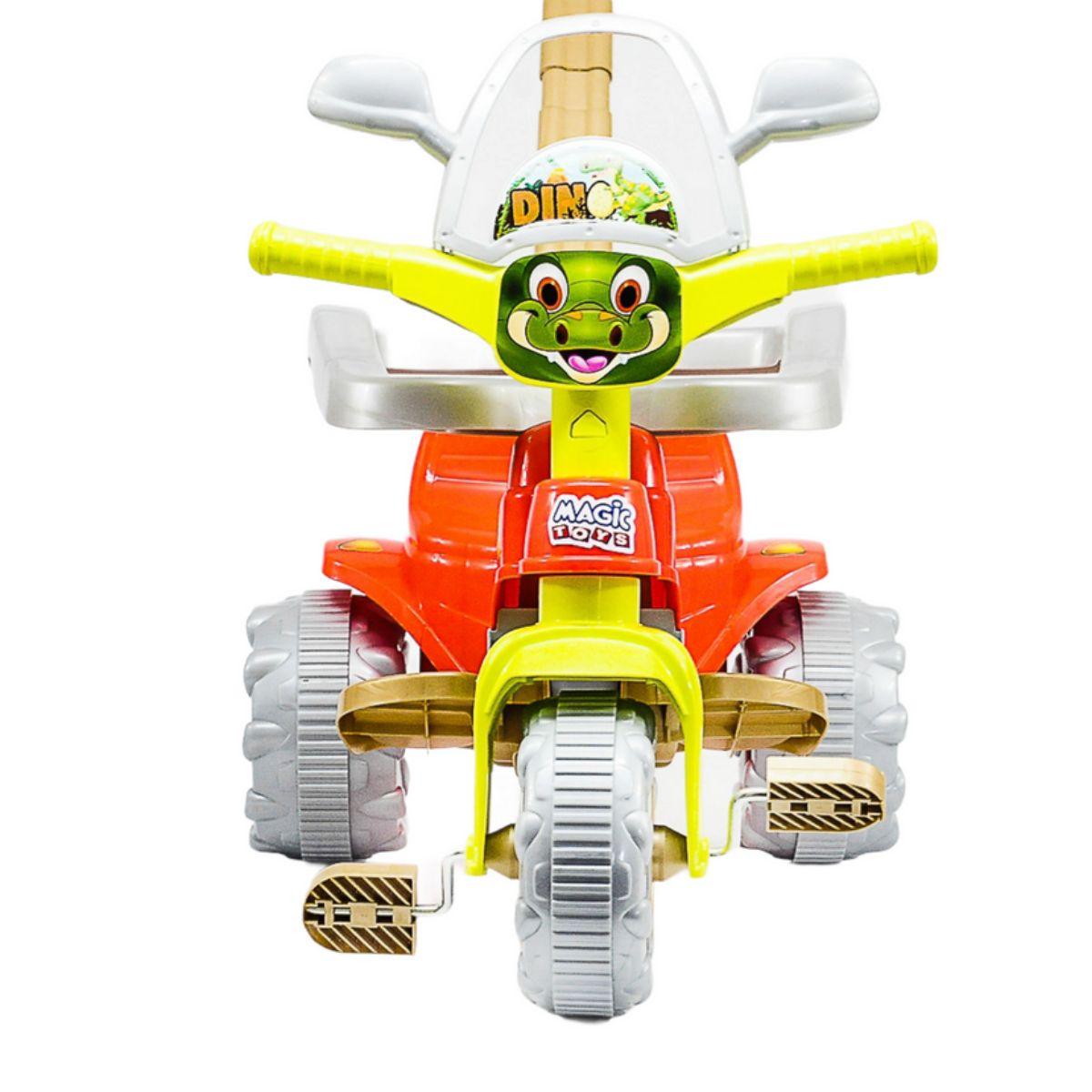 Tricilo Infantil Motoca Dino Vermelho Tico Tico Verde