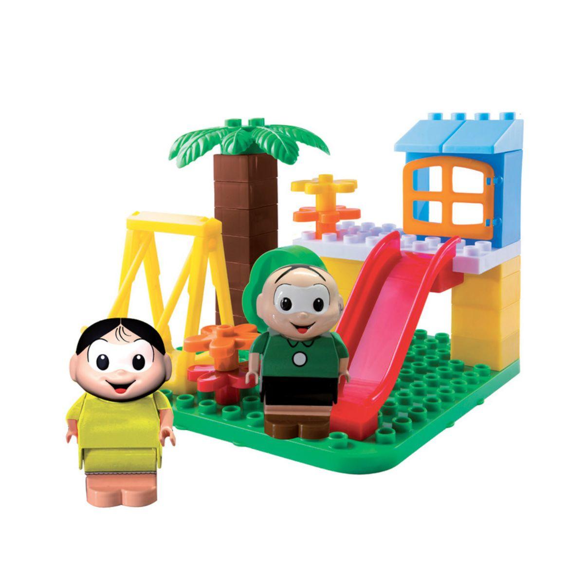 Turma da Mônica no Parque com 2 bonecos e 27 blocos