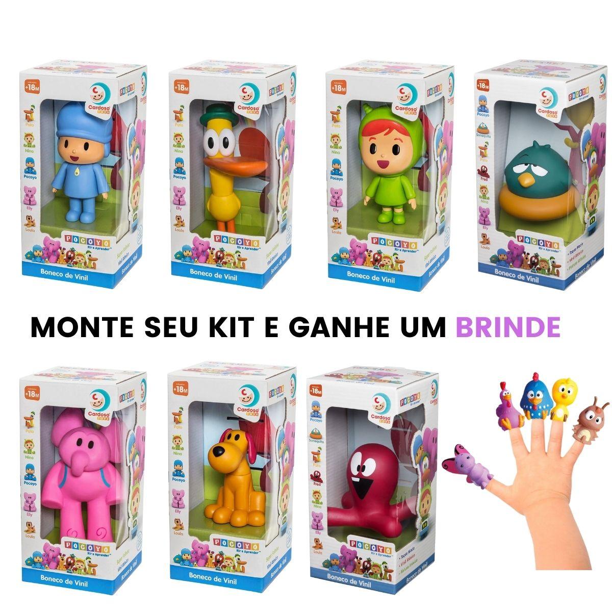 Turma Do Pocoyo Nina Loula Pato Elly Brinquedos De Vinil