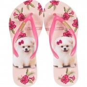 Chinelo Be Forever Lulu Fall In Love Flores Rosa