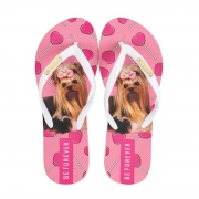 Chinelo Be Forever York Lollipop Rosa Pink Branco