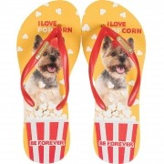 Chinelo Be Forever York Love Pop Corn Vermelho