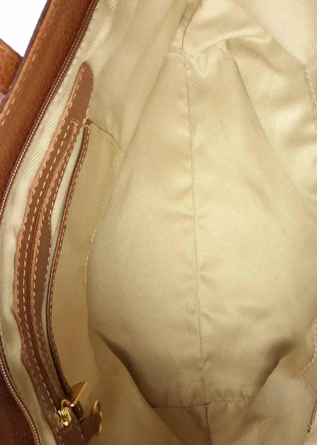 Bolsa Classe Couro Shopping Bag Marrom Caramelo