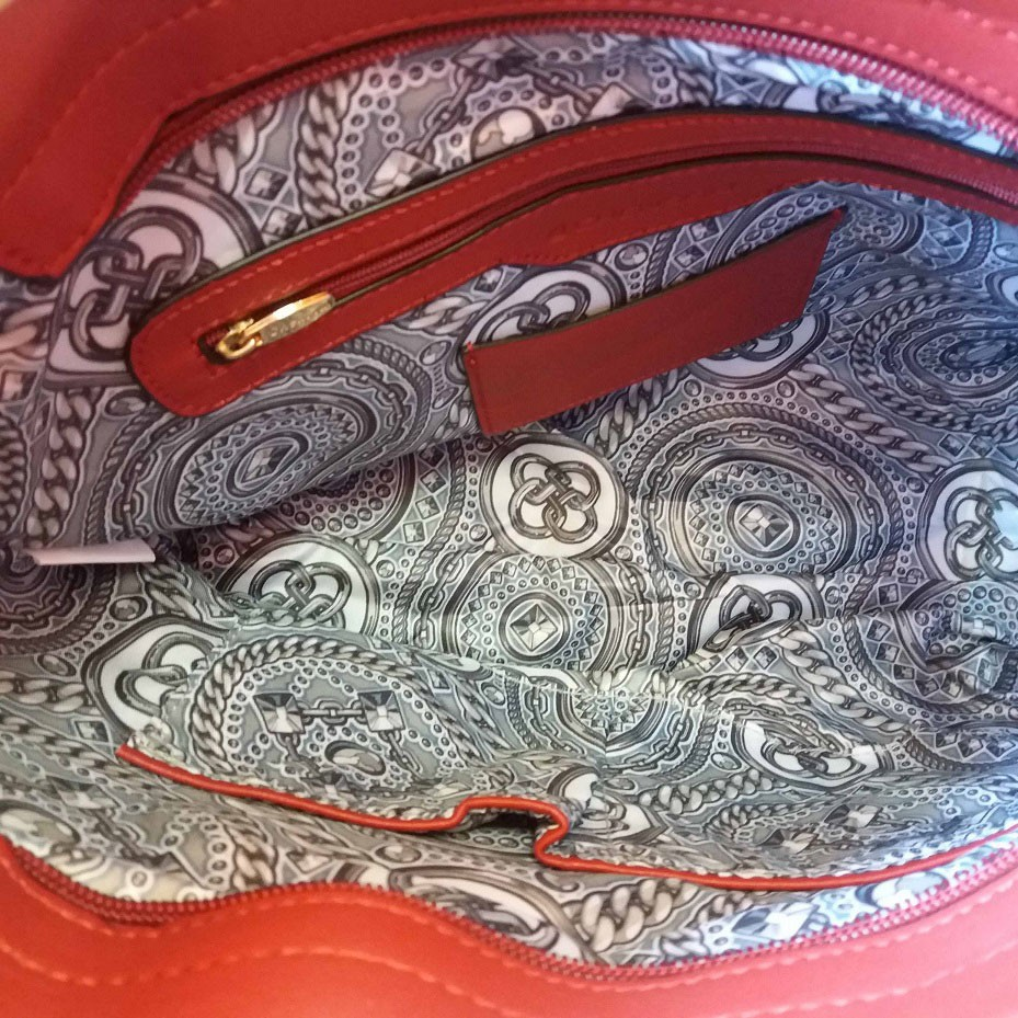 Bolsa Matelassê Vermelha Ombro Transversal Chenson