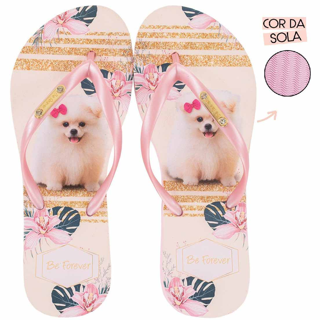Chinelo Be Forever Lulu Glam Rosa