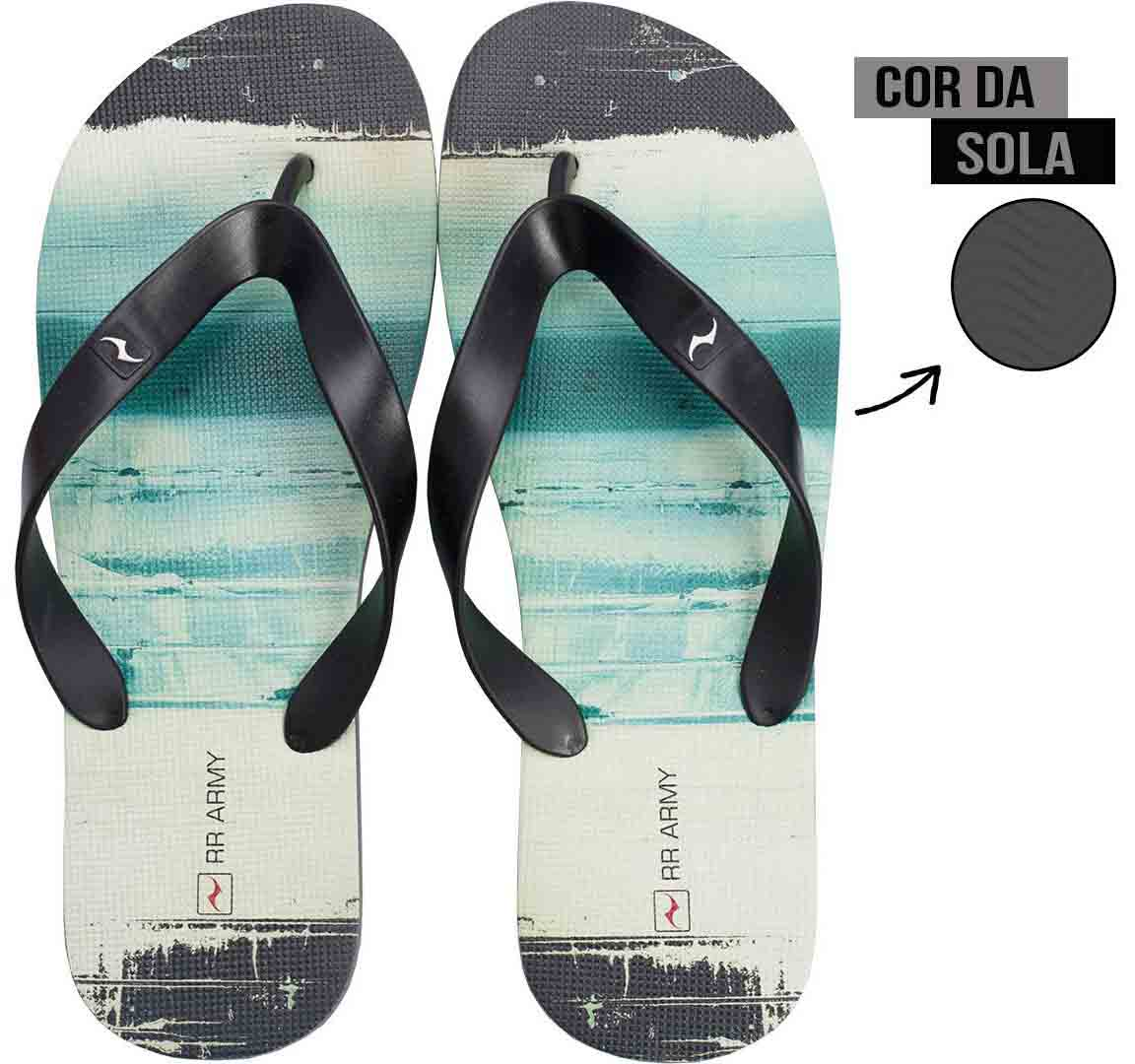 Chinelo Preto Ink RR Army