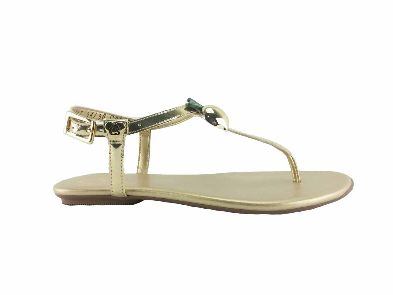 Rasteira sandália dourado Cs Club