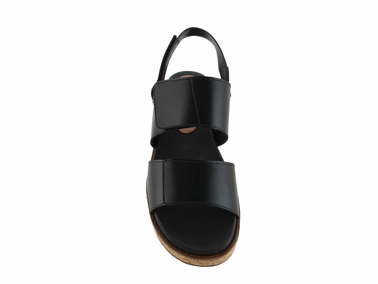 Sandália Flatform Couro Preto Ferrucci