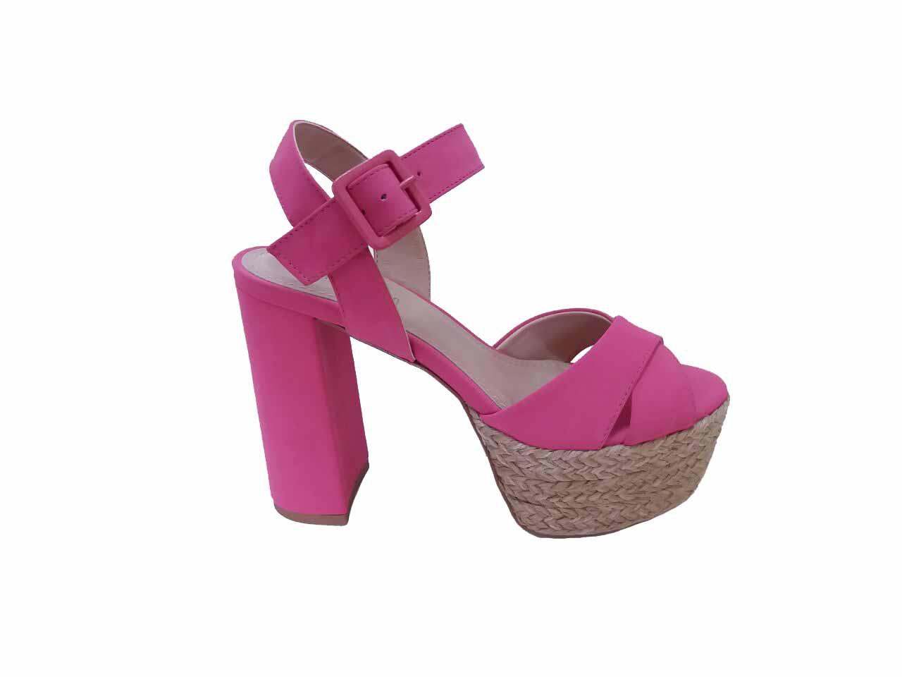 Sandália Nobuck Rosa Pink Spaço Criativo