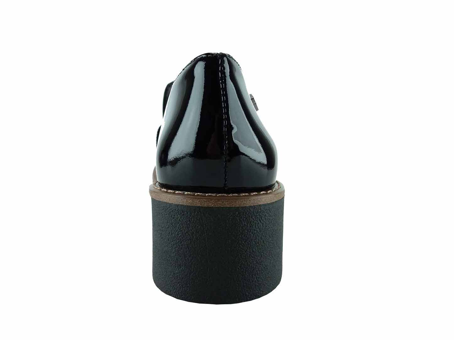Sapato Loafer Feminino Verniz Preto Fusion Cristófoli