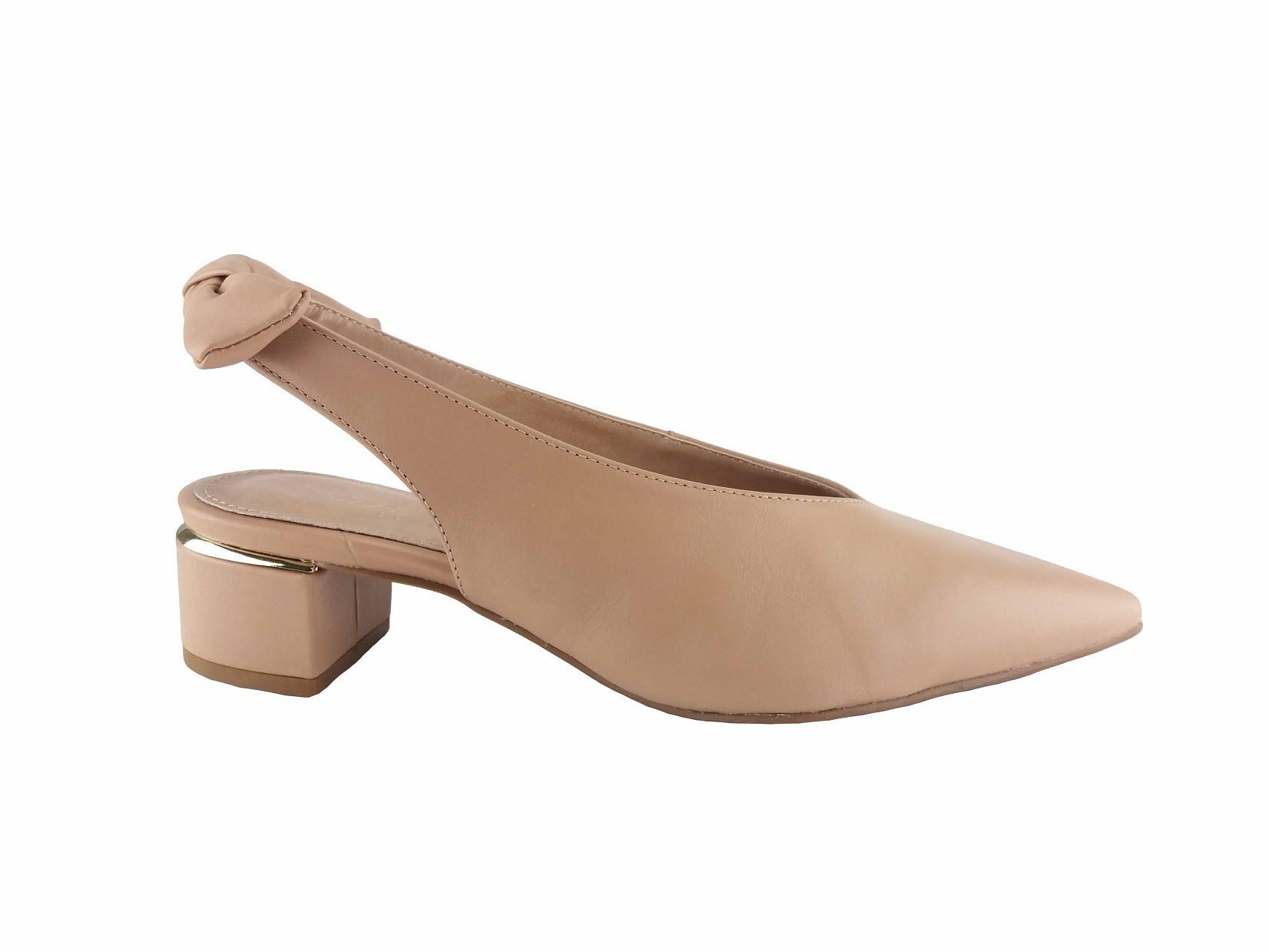 Sapato Nude Antique Detalhe Laço Stéphanie Classic
